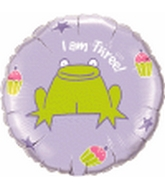 Happy 3rd Birthday Frog Balloon