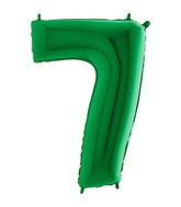 Green Jumbo Number 7 Green Balloon