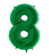 Grabo Jumbo Number 8 Green Balloon