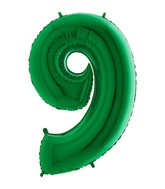 Grabo Jumbo Number 9 Green Balloon
