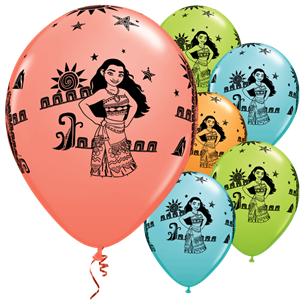 25x Moana Latex Balloons
