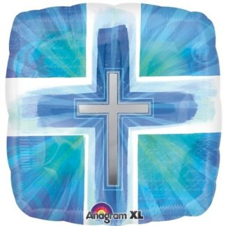 Blue Joyous Cross Balloon