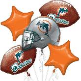Miami Dolphins NFL American Football Balloon Bouquet