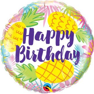 Pineapples Happy Birthday Balloon
