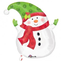Junior Shape Happy Snowman Standard Balloon