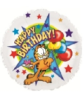 Happy Birthday Garfield Cupcake Standard Balloon