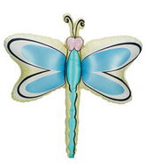 Blue Green Dragonfly Supershape Balloon