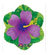 Purple Hibiscus Flower Junior Shape Balloon