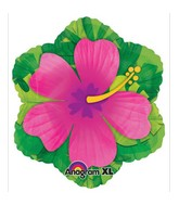 Pink Hibiscus Flower Junior Shape Balloon