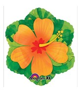 Orange Hibiscus Flower Junior Shape Balloon