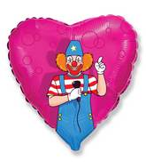 Circus Clown On Microphone Standard Balloon