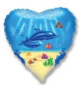 Dolphins Underwater Standard Balloon