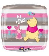 Es Nina Winnie The Pooh Piglet Globo