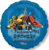 Transformers Happy Birthday Standard Balloon