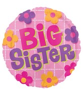 Big Sister Flowers Standard Balloon