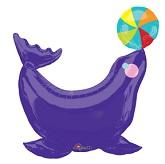 Purple Circus Seal Supershape Balloon