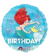 Happy Birthday Little Mermaid Ariel Flounder Standard Balloon