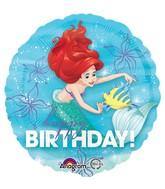 Happy Birthday Little Mermaid Ariel Flounder Standard Balloon