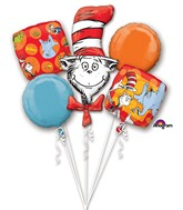 Dr Seuss Cat In The Hat Balloon Bouquet