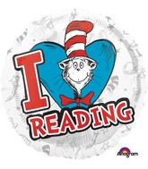 Dr Seuss Cat In The Hat I Love Reading Balloon