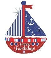 Sailboat Nautical Supershape Balloon