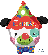 Circus Clown Dog Junior Shape Balloon