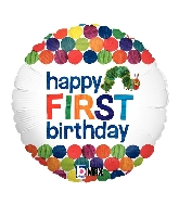 Happy 1st Birthday Very Hungry Caterpillar Standard Balloon