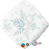 Holographic Snowflake Sparkle White Standard Balloon