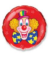 Circus Clown With Blue Bow Red Standard Balloon