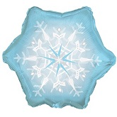 Blue & White Snowflake Shape Standard Balloon