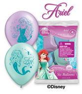 Set Of 6 Little Mermaid Ariel Latex Balloons