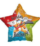 Happy Birthday Rocker Garfield Standard Balloon
