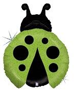 Green Holographic Ladybird Supershape Balloon