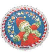 Magical Snowman With Xmas Border Standard Balloon