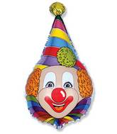 Pointed Hat Circus Clown Supershape Balloon