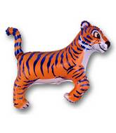 Tiger Blue Stripes Supershape Balloon