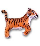 Tiger Black Stripes Supershape Balloon