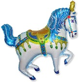 Blue Circus Horse Supershape Balloon