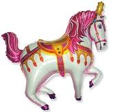 Pink Circus Horse Supershape Balloon