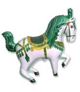 Green Circus Horse Supershape Balloon