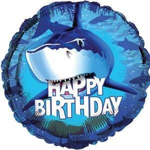 Happy Birthday Shark Splash Standard Balloon