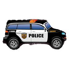 Police Emergency Car Supershape Balloon