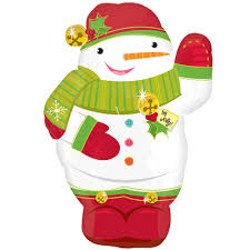 Waving Snowman Junior Shape Balloon