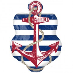 Anchors Away Nautical Supershape Balloon