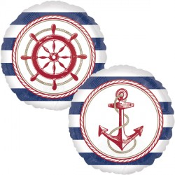 Anchors Away Nautical Standard Balloon