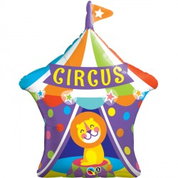 Circus Big Top Lion Supershape Balloon