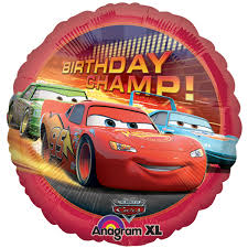 Birthday Champ Lightning McQueen Disney Cars Standard Balloon