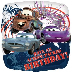Action Packed Birthday Disney Cars 2 Standard Balloon