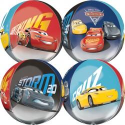 Disney Cars 3 Orbz Balloon. Featuring Lightning McQueen, Jackson Storm & Cruz Ramirez
