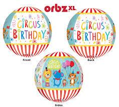 Circus Birthday Orbz Sphere Balloon